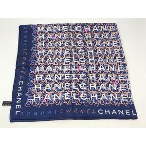 Chanel  logo square scarf